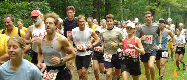 Start of the 2004 Savoy Trail Race